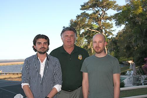 L-R: Kris Hansson (SVT) , Tom Talleur, Eric Vollstens (SVT)